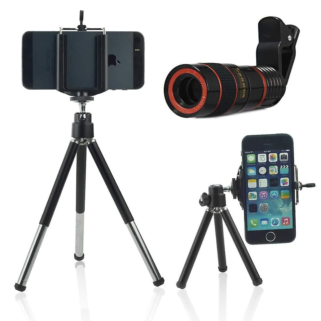 Onx3 Black Tripod Holder Universal Clip On 8x Zoom Optical Mobile Phone Telescope Lens With Clamp Manual