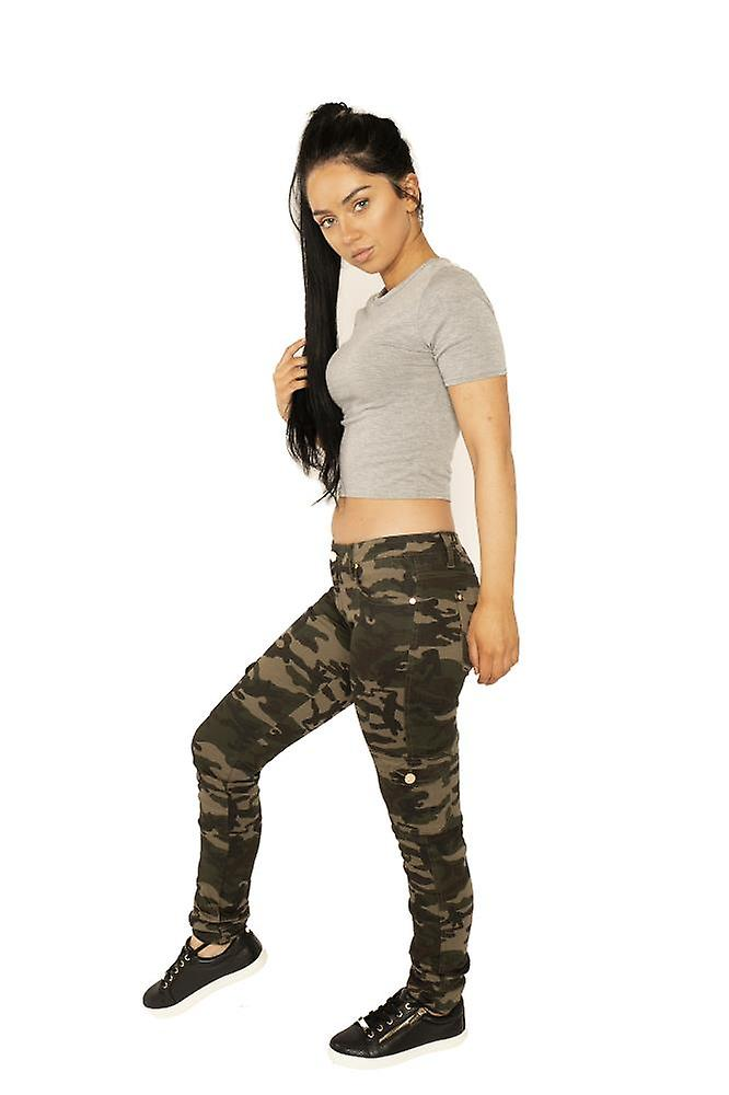 Lav stigning Camouflage Slim Combat bukser