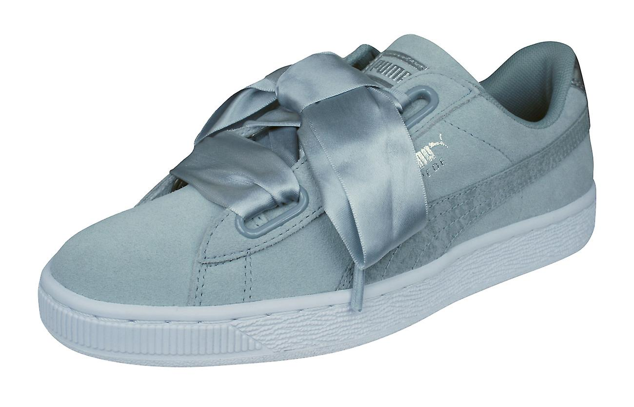 lowest price 54f61 74a7c Puma Suede Heart Safari Womens Trainers / Shoes - Grey