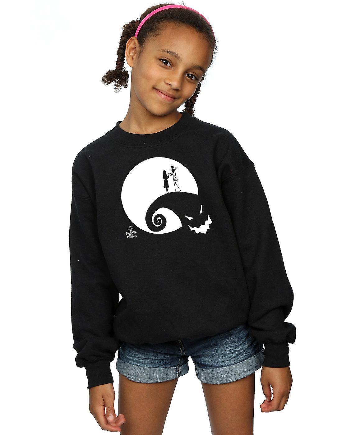 Disney Girls Nightmare Before Christmas Moon Oogie Boogie Sweatshirt ...