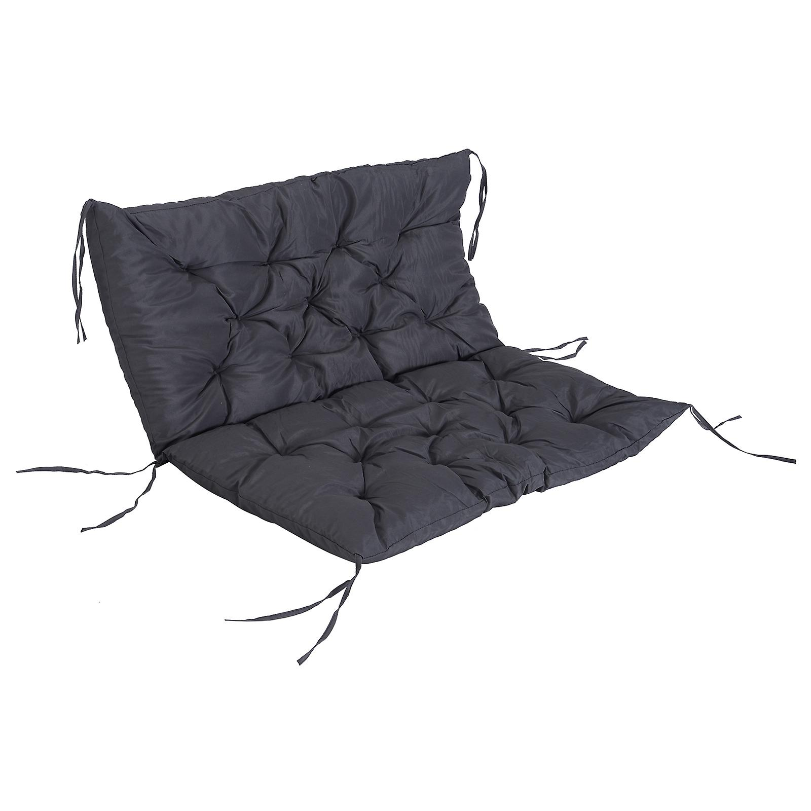 Superb Outsunny Outdoor Garden Patio Bench Swing Chair Replacement Seat Pad Cushions Backrest 100 X 98 Cm 2 Seater Machost Co Dining Chair Design Ideas Machostcouk