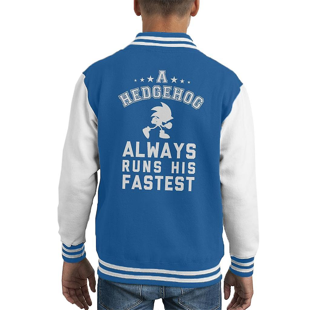 Sonic A Hedgehog Always Runs His Fasteset Kid S Varsity Jacket Fruugo Usa