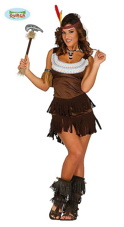 Indianerin Kleid Squaw Karneval Motto Party Kostum Fur Damen Wilder