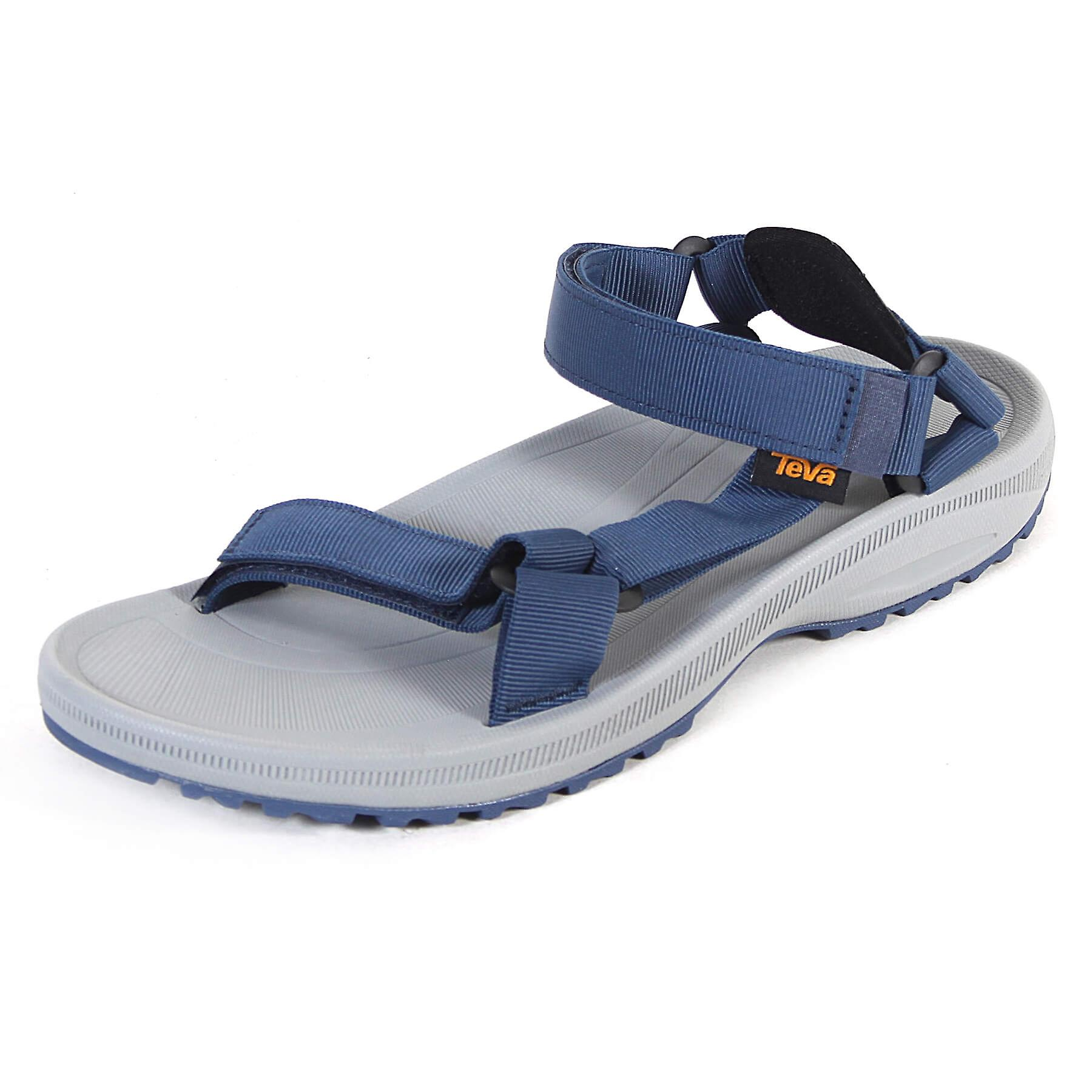 92d42cfa838a Teva Men s Winsted Solid Polyester Open Toe Sandal Navy   Grey