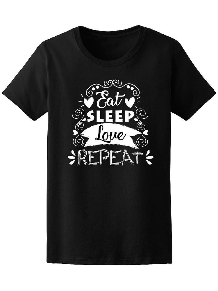 Spise, sove, elske og Gentag Tee kvinder billede af Shutterstock