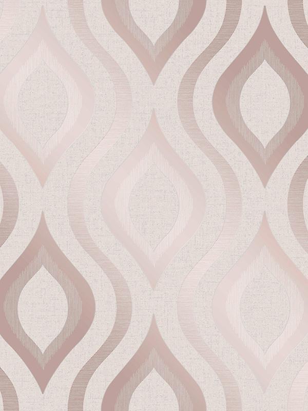 Quartz Geometric Wallpaper Rose Gold Fine Decor Fd42206
