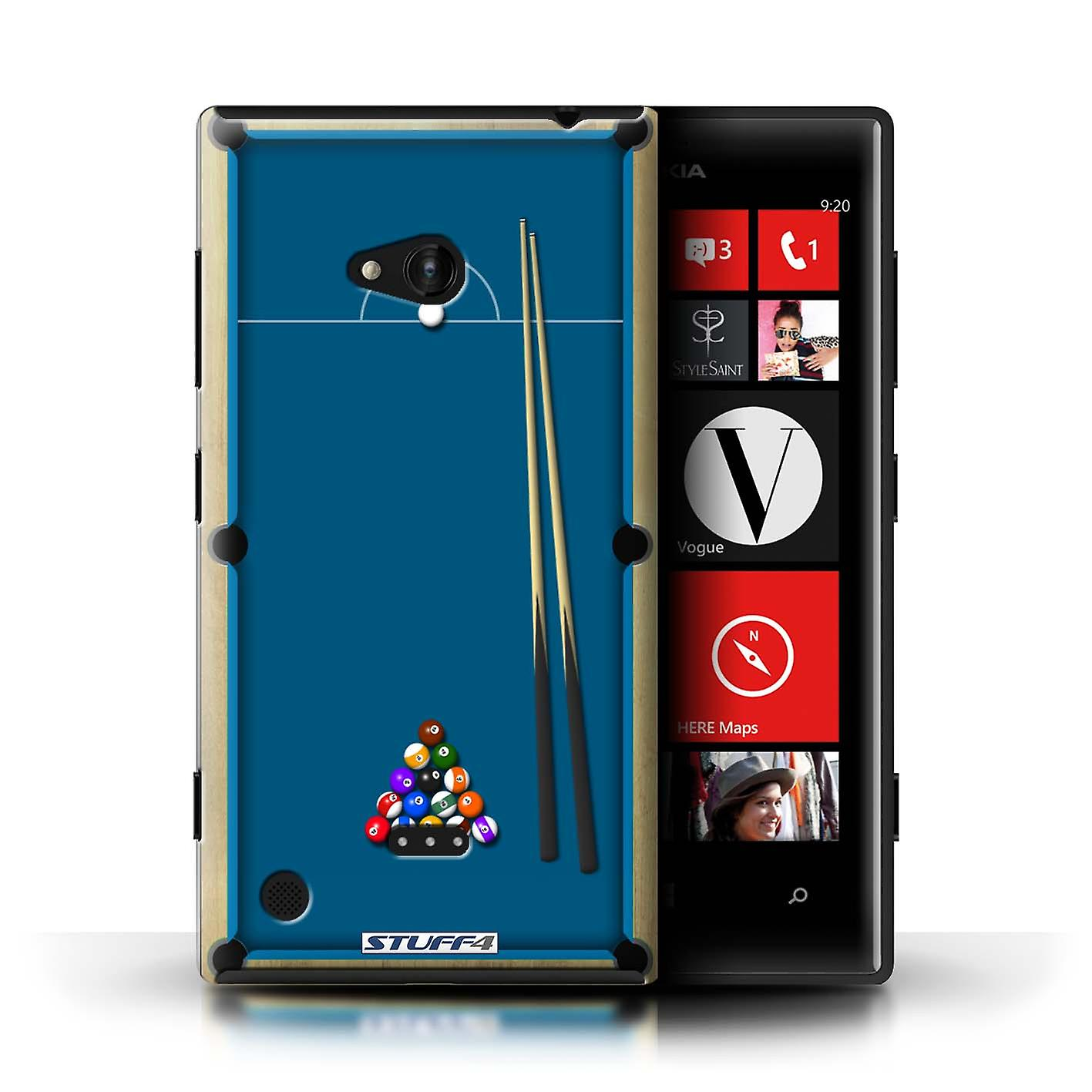 STUFF4 Case/Cover for Nokia Lumia 720/Pool/Billiards Blue/Games