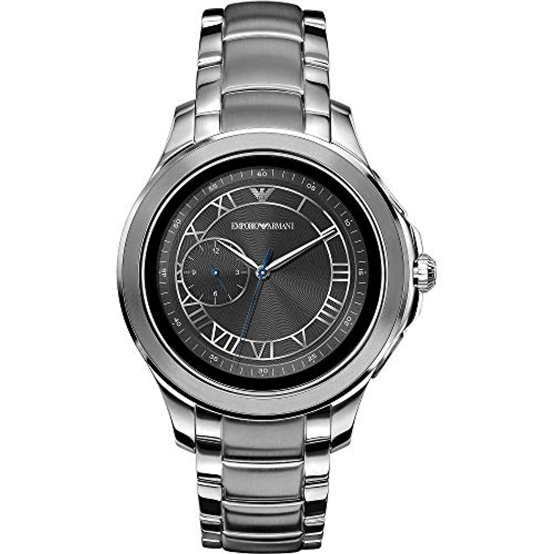 new concept b622b c0e1d エンポリオ ・ アルマーニ メンズ デジタル腕時計ステンレス バンド ART5010
