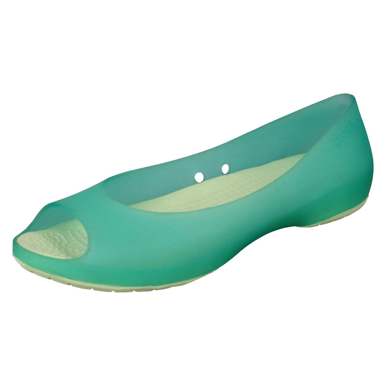 137de39b3287fa Ladies Crocs Flat Ballerina Shoes Carlie Flat