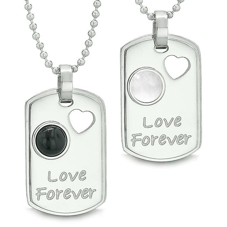 e65f26552a Love Forever Positive Energy Amulets Heart Yin Yang Love Couples Necklaces