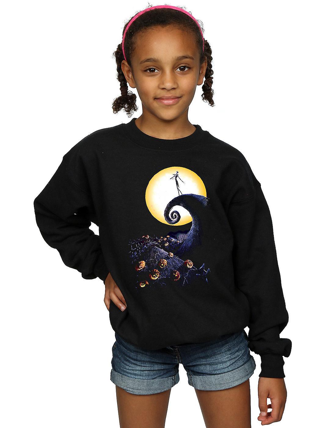 Disney Girls Nightmare Before Christmas Cemetery Sweatshirt | Fruugo