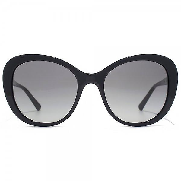 3c46d6d4492 Giorgio Armani Timeless Elegance Curved Cateye Sunglasses In Black ...