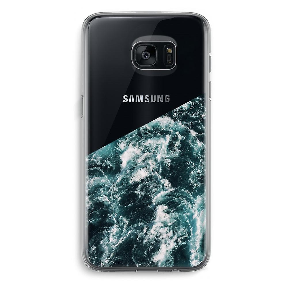 new style 2c8ff 174c5 Samsung Galaxy S7 Edge Transparent Case (Soft) - Ocean Wave