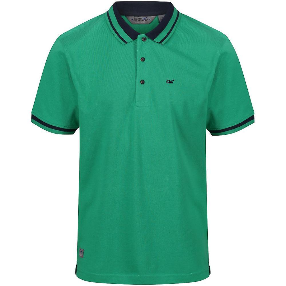 Green Regatta Coolweave Mens Polo Shirt