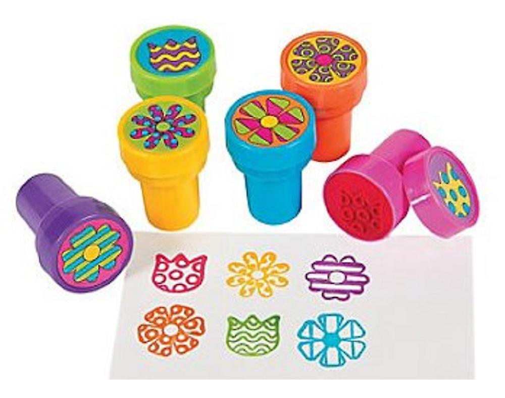 24 Flower Self Inking Stampers for Kids - Party Bag Fillers | Kids Crafts