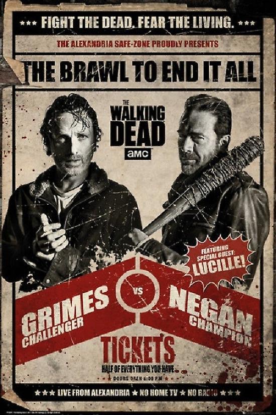 Walking Dead - Grimes vs Negan Poster Poster Print  c94db4bd05397