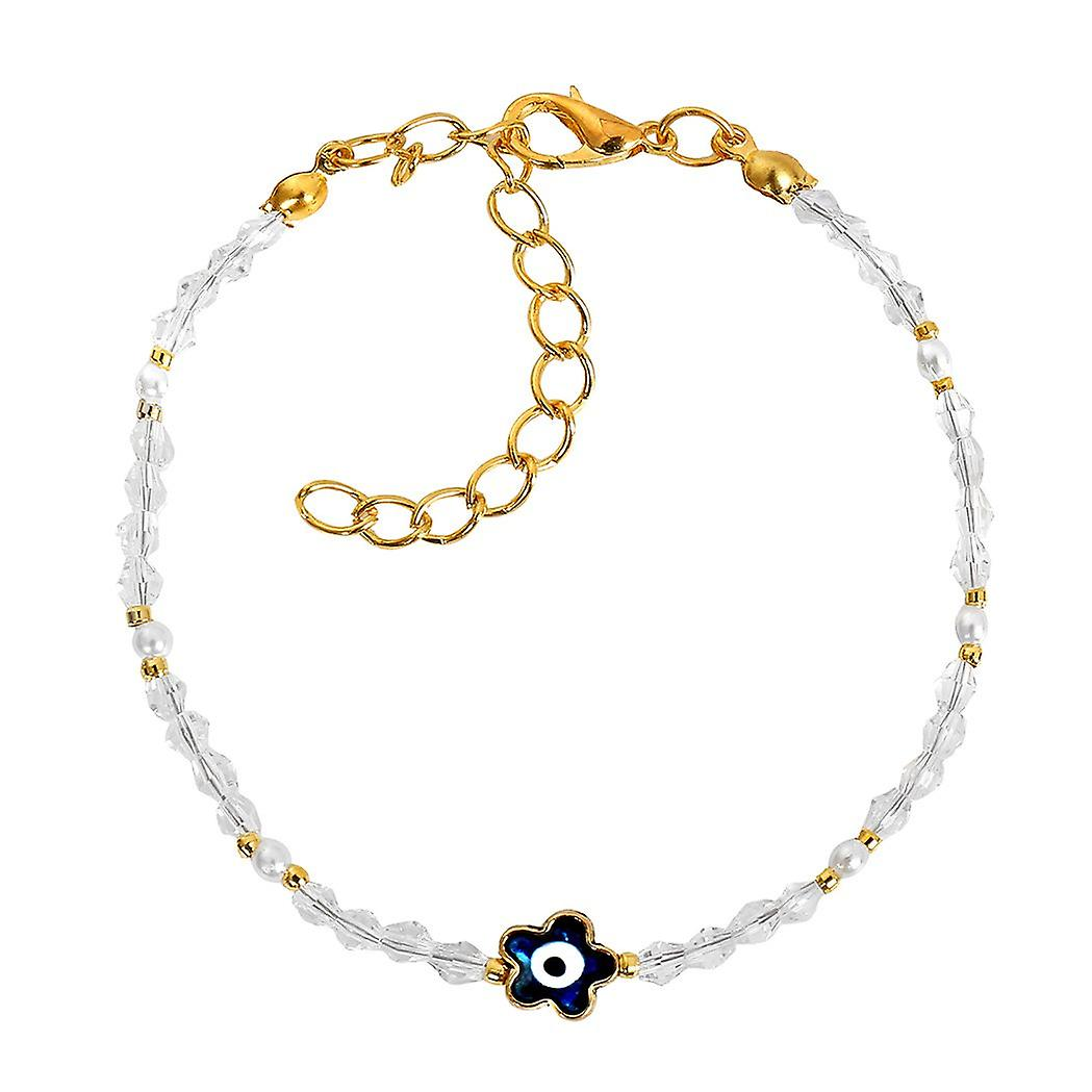 Evil Eye Protection Blue Star Amulet Royal Snow White Accents Magic Symbol  Lucky Charms Bracelet