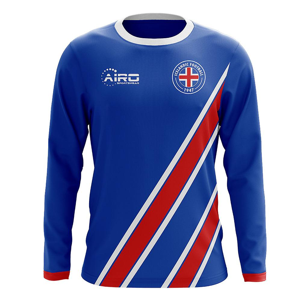 0866291c3 2018-2019 Iceland Long Sleeve Home Concept Football Shirt (Kids ...