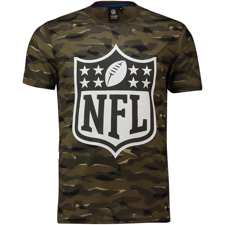 LOGO SHIELD wood camo NFL Fan T-Shirt