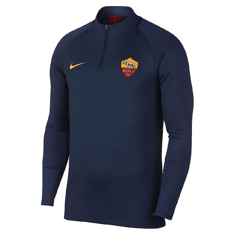 2019-2020 AS Roma Nike Drill Training Top (Obsidian) - Kids