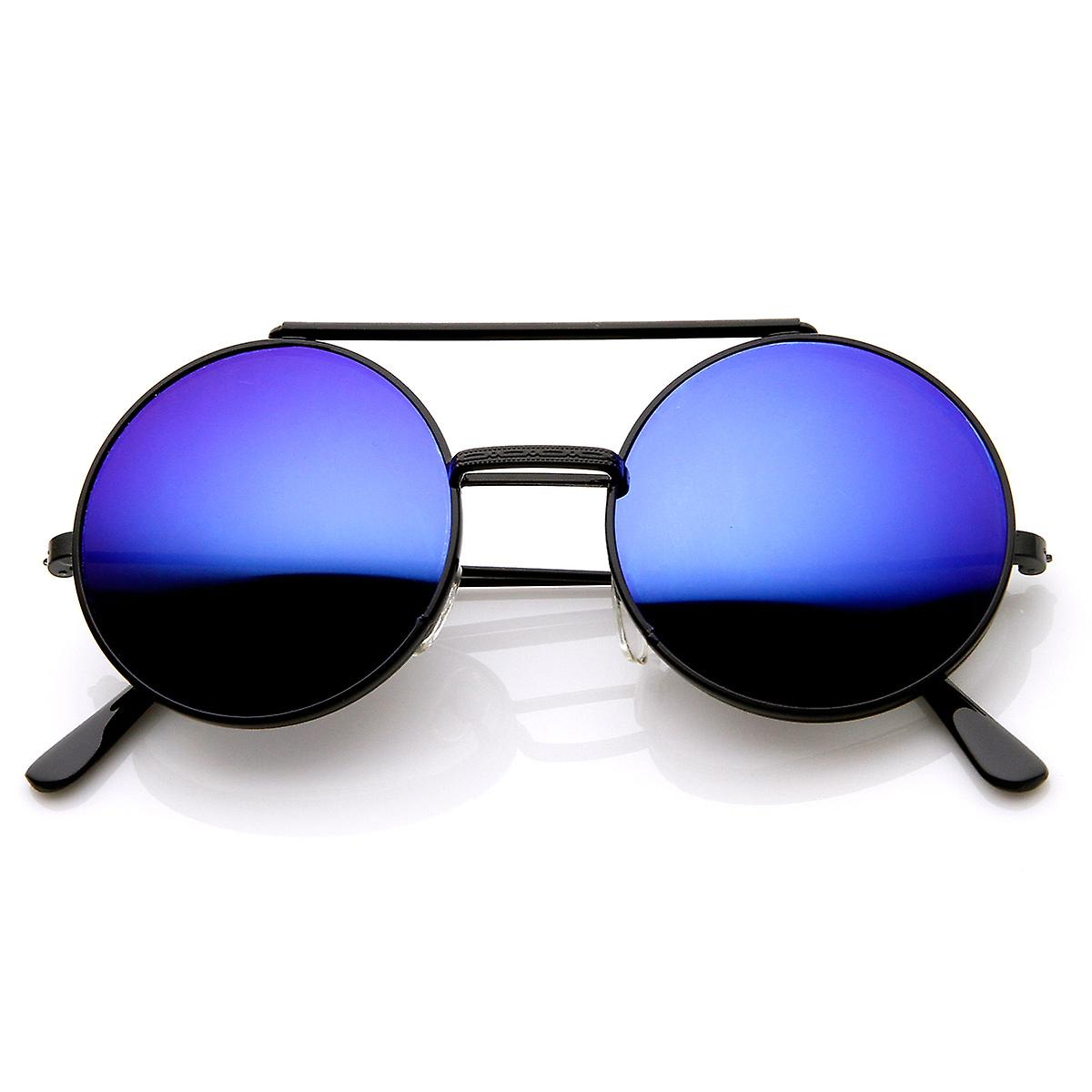 ae8647bd5d Limited Edition Color Mirror Flip-Up Lens Round Circle Django Sunglasses