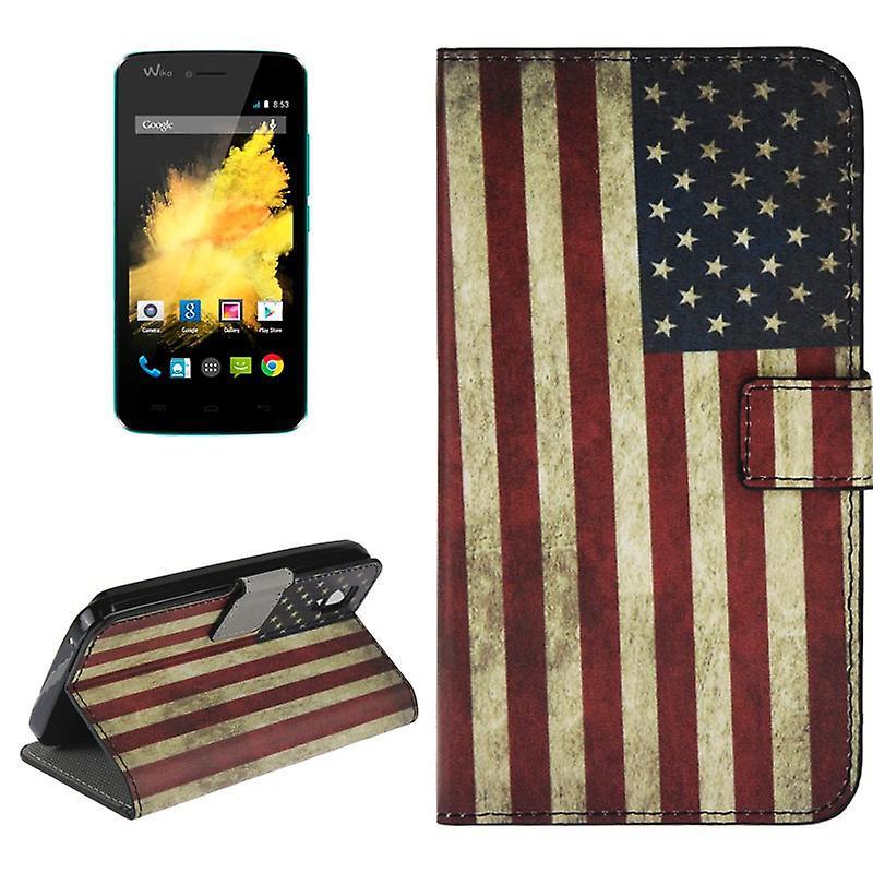 Mobiltelefon Case Fodral For Mobil Wiko Sunset Retro Flagga Usa