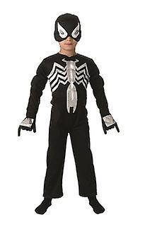 Svart Spiderman svart spindel original Deluxe barn kostym  5082690a66819