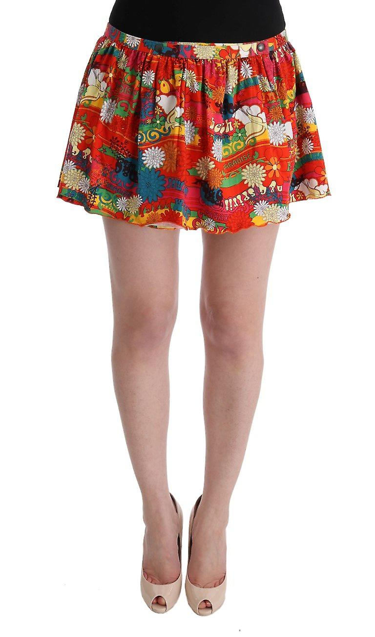 free shipping 99890 08b42 Multicolor floral print beachwear skirt