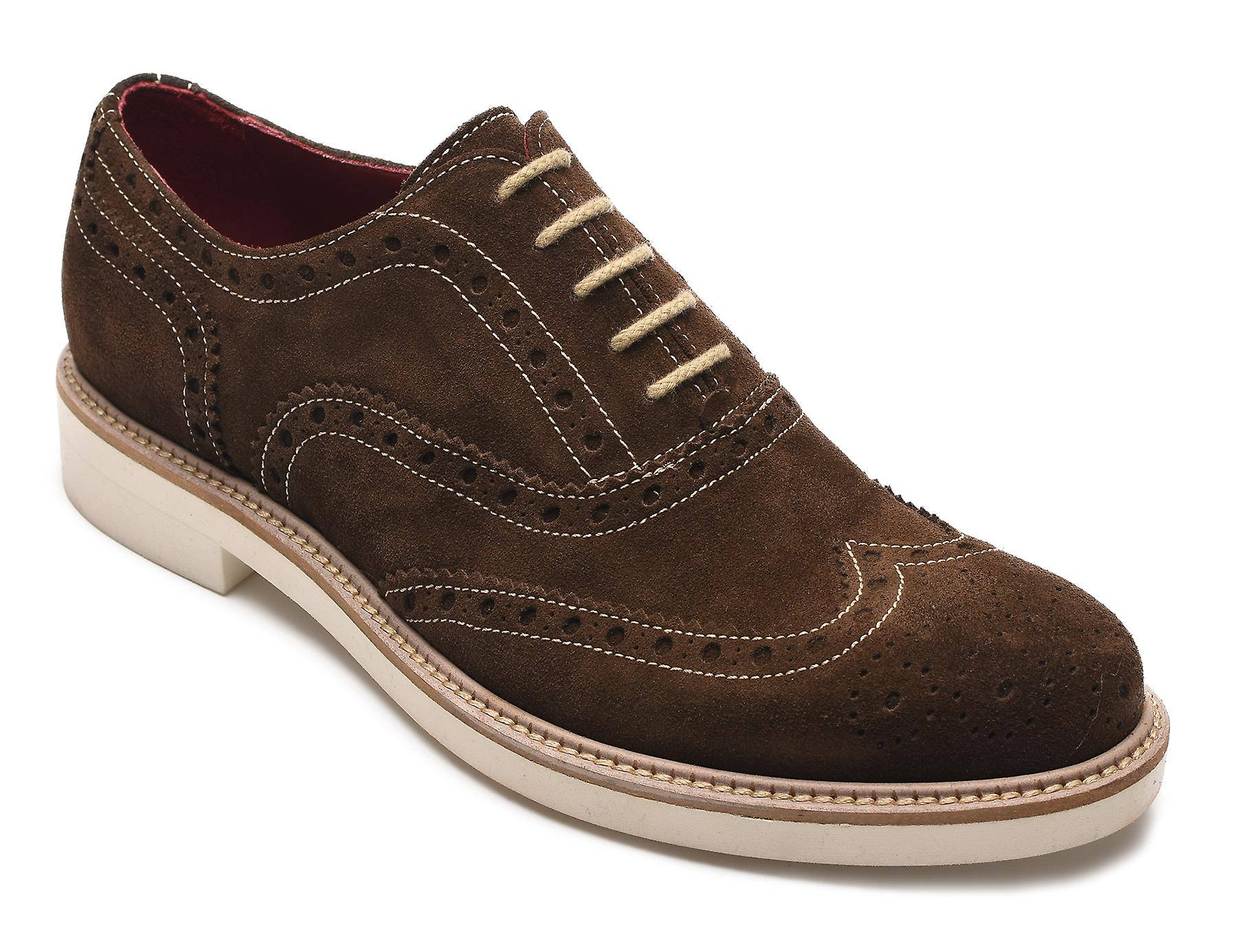 e5b0af65c24637 Alexander Men s Jargo Suede Leather Brogue Oxfords Shoes Dark Brown ...