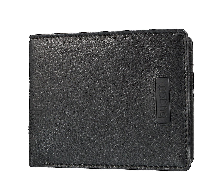 Bugatti PREGIO men s credit card market purse wallet purse black 3614 a8c3518175