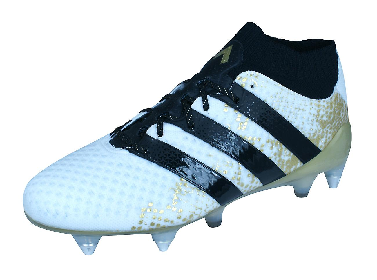 sale retailer be210 6c925 adidas Ace 16.1 Primeknit SG Mens Football Boots / Cleats - White and Gold