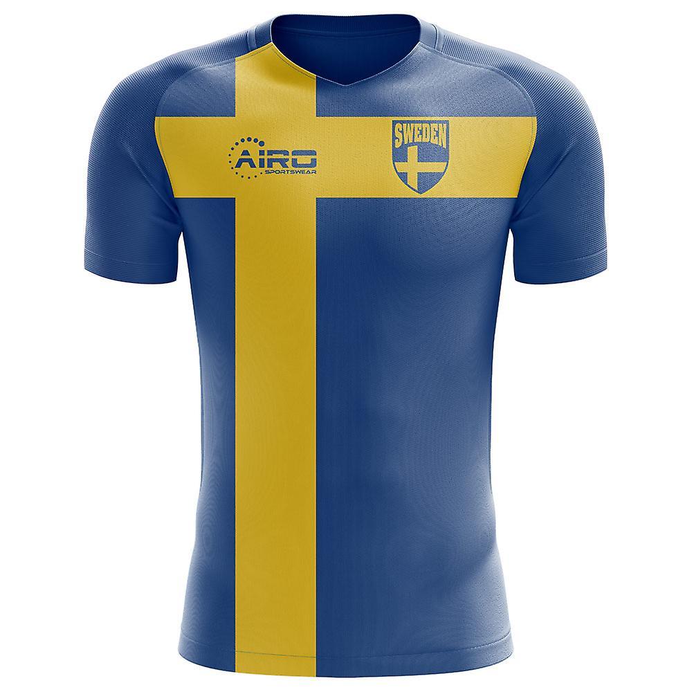 2018-2019 Sweden Flag Concept Football Shirt  731d3bb36