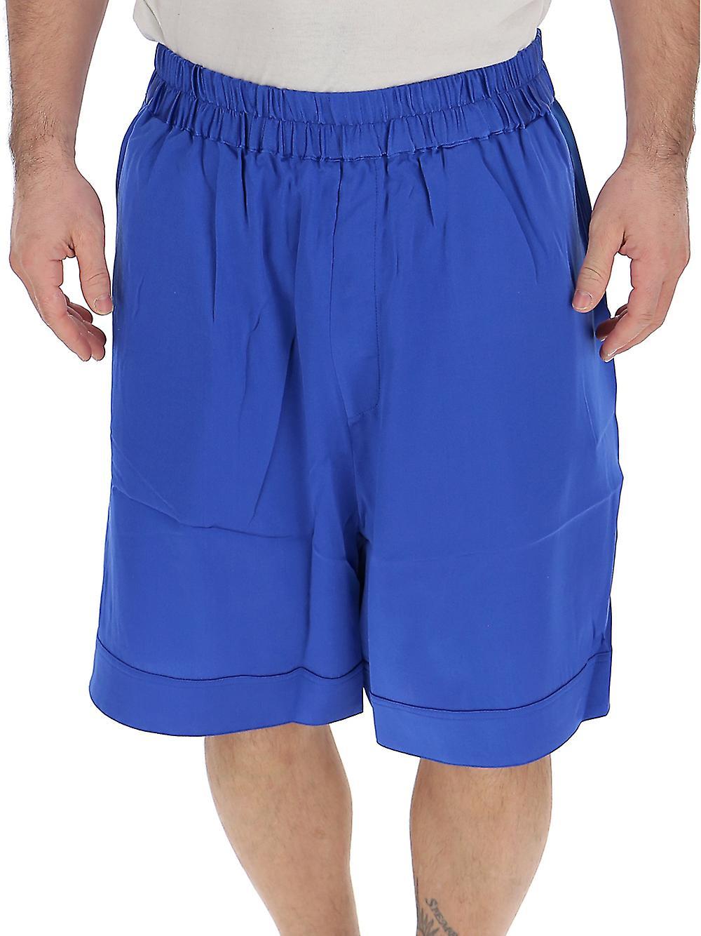 70078b21011 Laneus Blue Silk Shorts