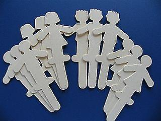 Great For Puppets 12 Large People Shaped Craft Sticks