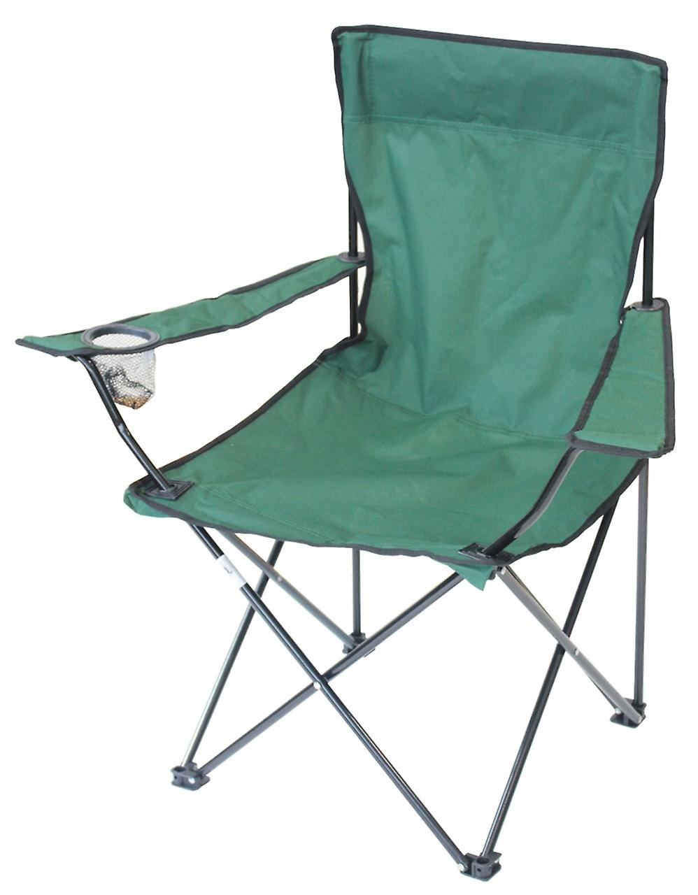 Yellowstone Essential Folding Camping Chair Green