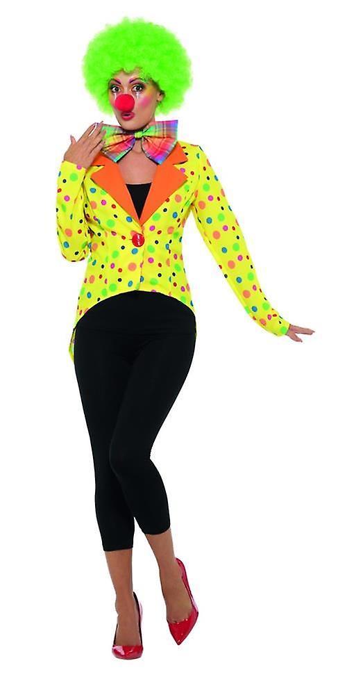 Bunte Clown Größe KostümUk Mantel JackeDamenZirkus 10 8 H2D9YWEI