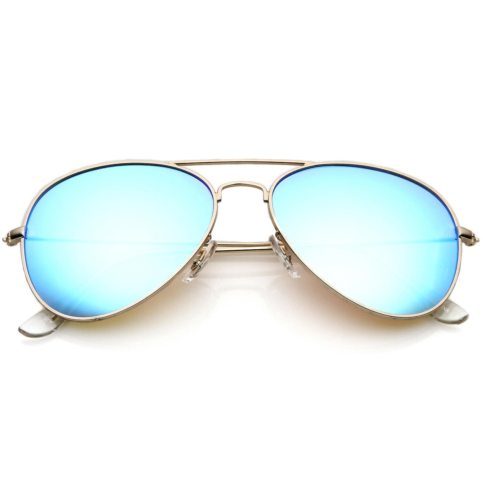 ec36510d3e Premium Nickel Plated Frame Multi-Coated Mirror Lens Aviator Sunglasses 59mm