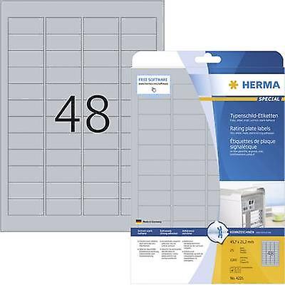 959b2c83 Herma 4221 etiketter 45,7 x 21,2 mm Polyester filmen sølv 1200 eller ...