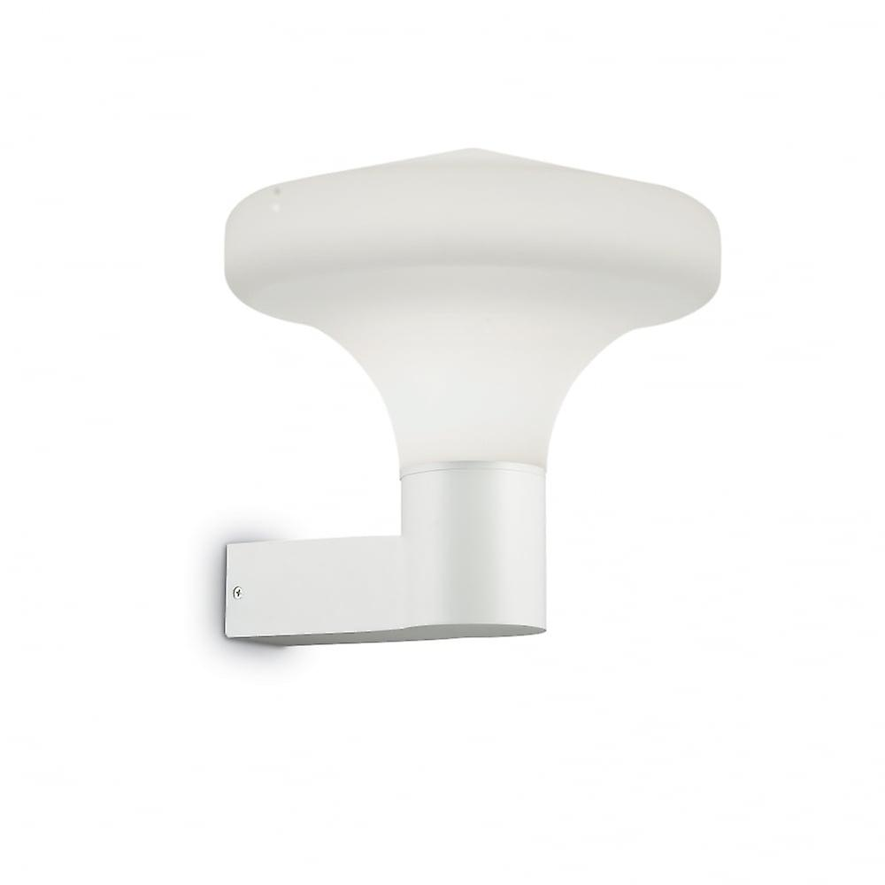 Ideal Lux Sound White Wall Light With Opal Shade
