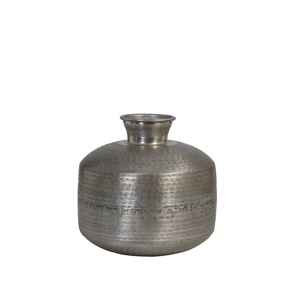 Lys & Levende Vase 40x39cm Cerise Vintage Sølv