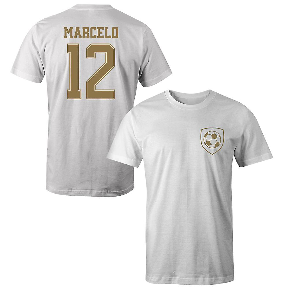 official photos e29c8 383b2 Marcelo 12 Real Madrid Style Player Kids T-Shirt