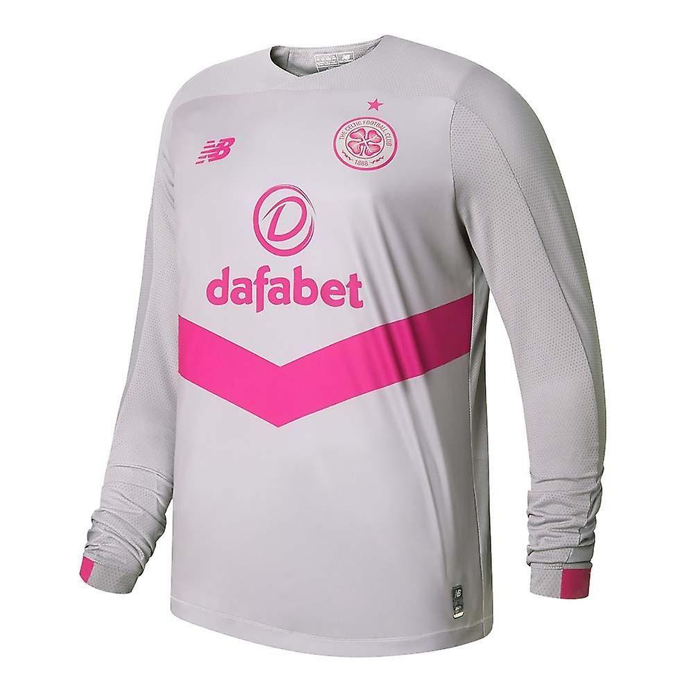 New Balance 2019-2020 Celtic Home Long Sleeve Football Soccer T-Shirt Kids