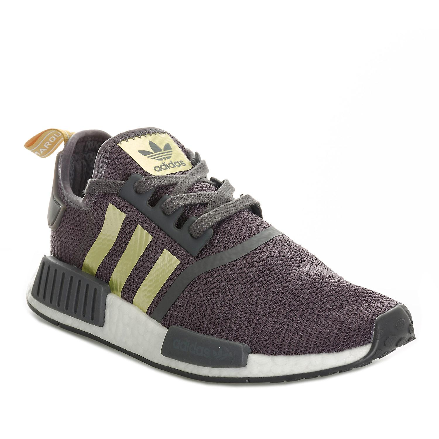 Womens adidas Originals Nmd/_R1 Trainers In Grey Five Gold Metallic