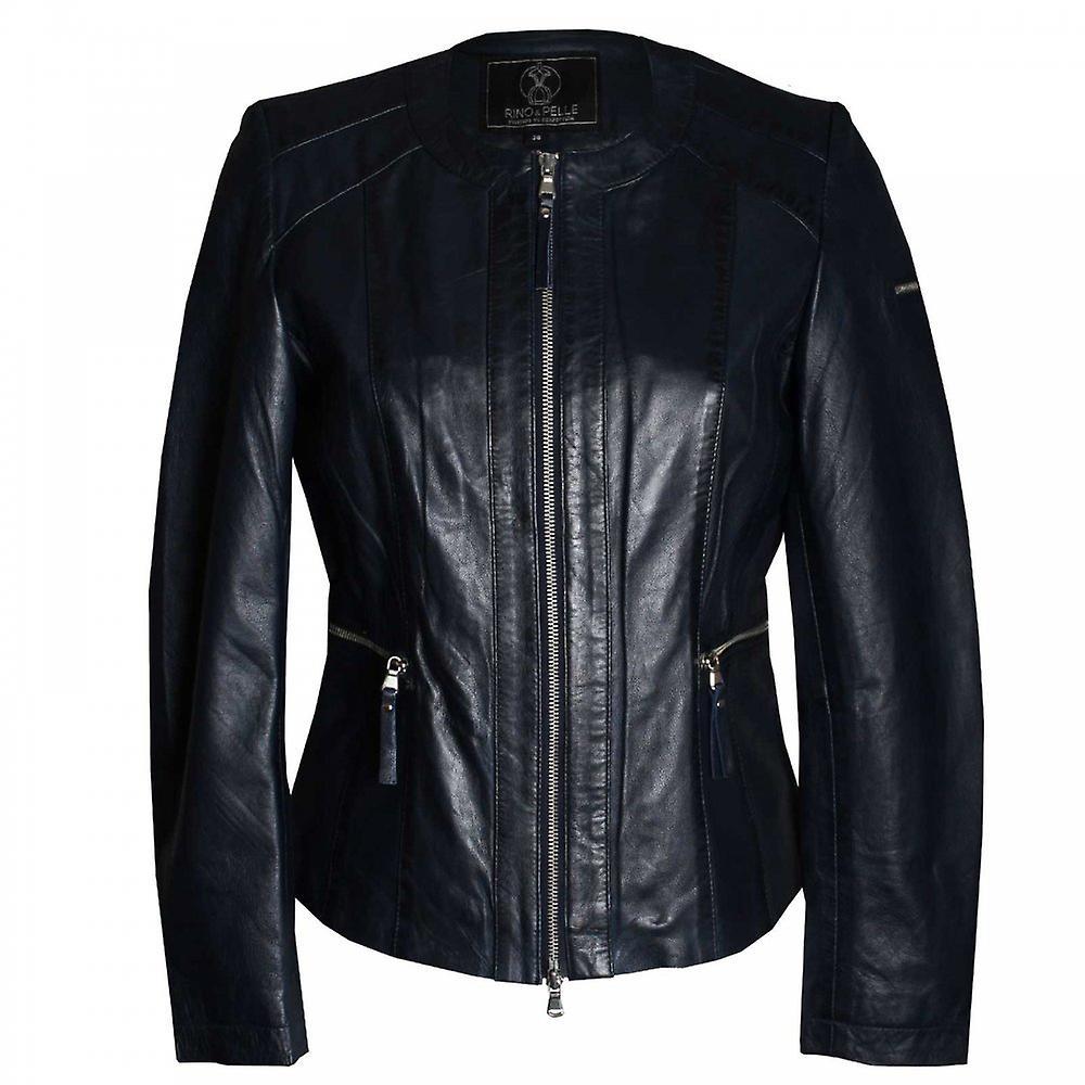 promo code 85126 d9c8e Rino & Pelle donna manica lunga giacca di pelle blu