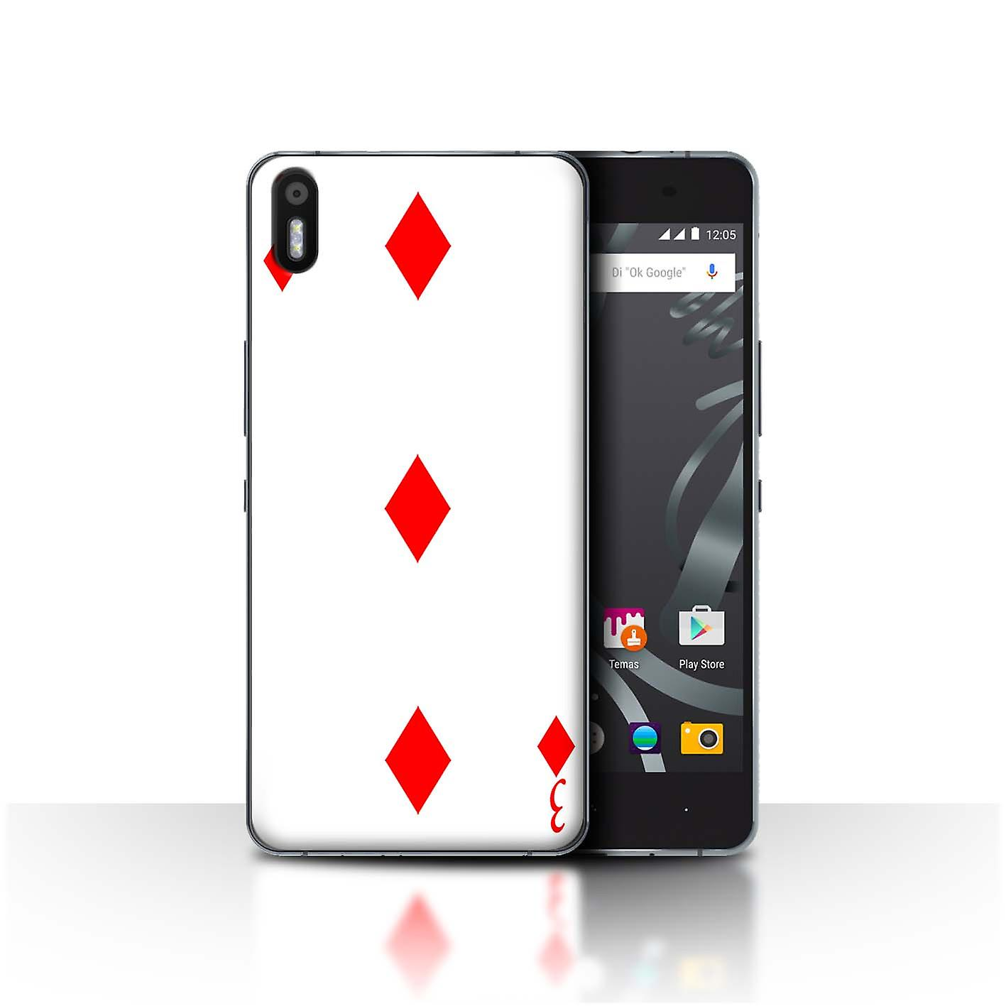 STUFF4 Case/Cover for BQ Aquaris X5/3 of Diamonds/Playing Cards