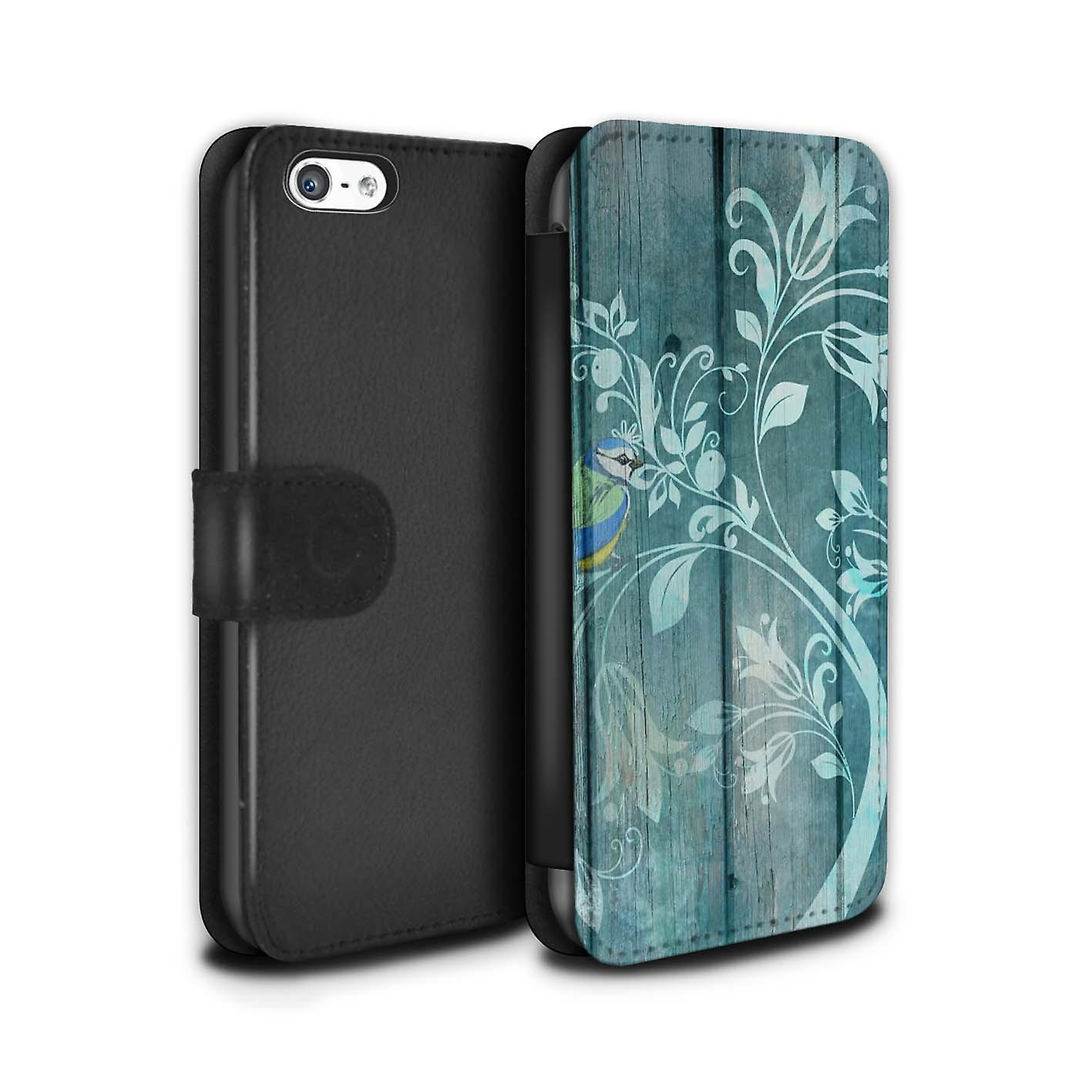 promo code df577 b6c34 STUFF4 PU Leather Wallet Flip Case/Cover for Apple iPhone 5C / Jade Tree  Design / Winter Fashion Collection