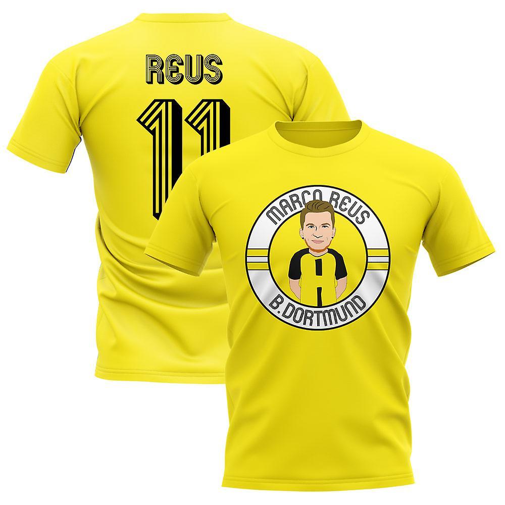 new styles 150fe 7ac8a Marco Reus Borussia Dortmund Illustration T-Shirt (Yellow)