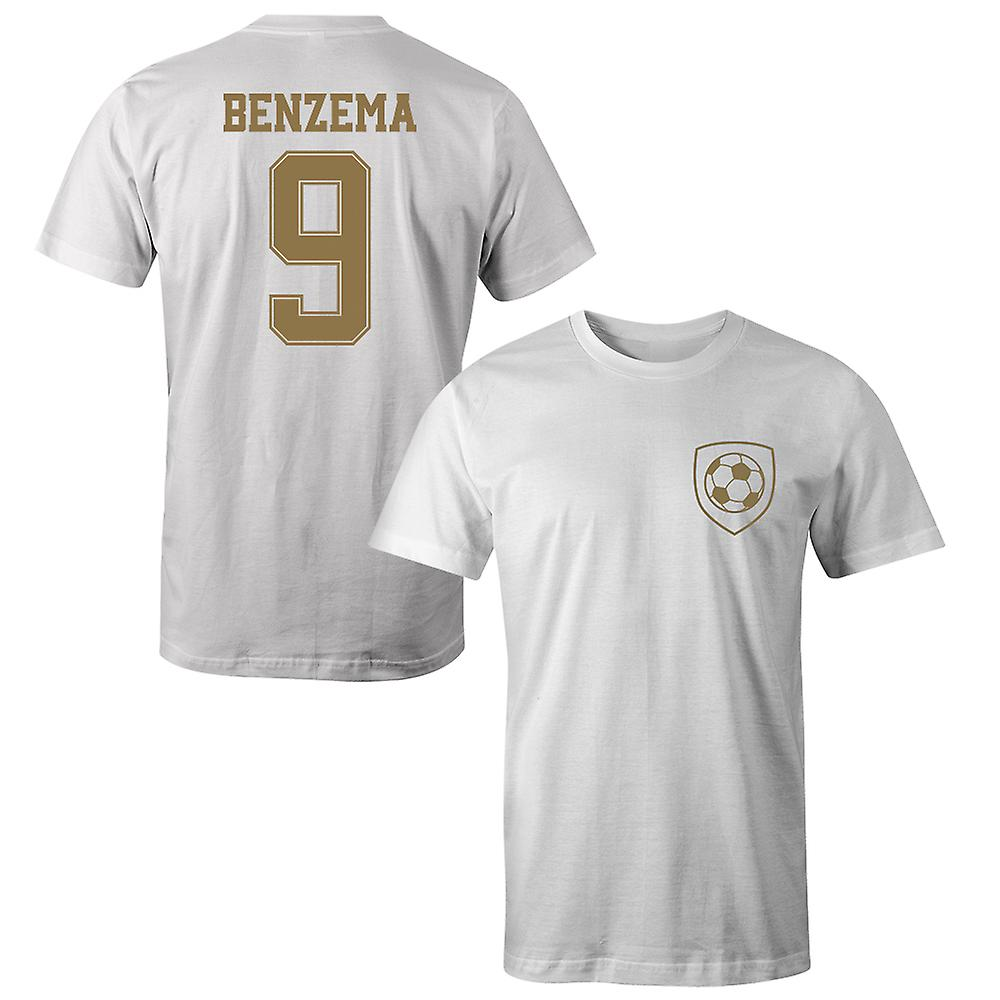sports shoes 69573 f1090 Karim Benzema 9 Real Madrid Style Player T-Shirt