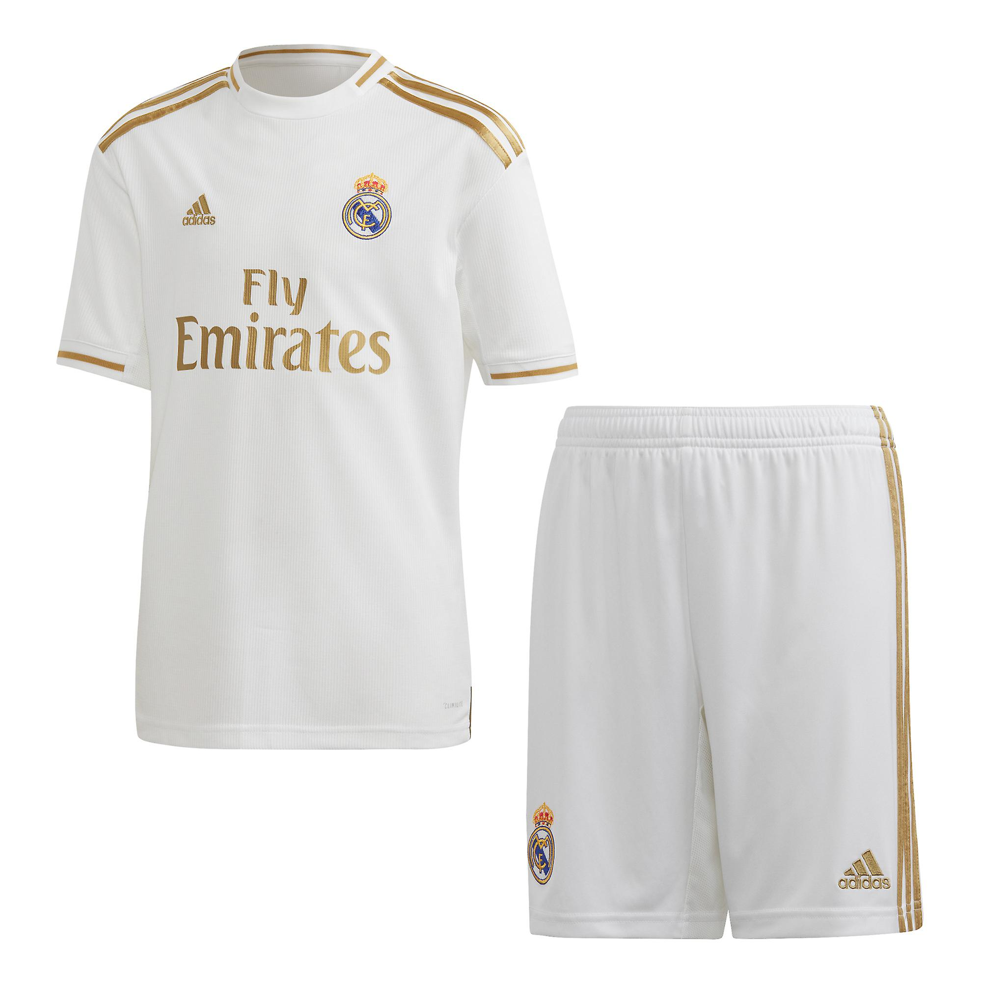 huge selection of 2f7c5 8d4e8 adidas Real Madrid 2019/20 Kids Football Home Kit Set White/Gold