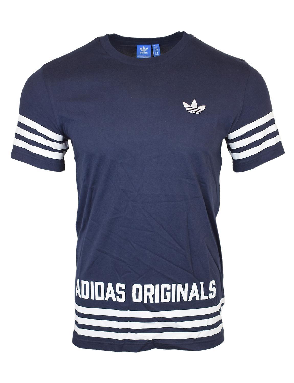 8ccbe8b1ad079 Adidas Originals Mens Blue Street GRP T-Shirt AZ1139   Fruugo